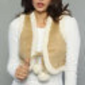 BB Dakota Cropped Faux Shearling Vest NWT